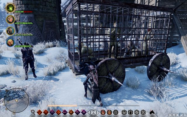 The cage with prisoners - Rocky Rescue - Side quests - Emprise du Lion - Dragon Age: Inquisition Game Guide & Walkthrough