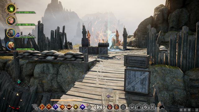The first hole surrounded with a magic barrier - Calming Victory Rise - Side quests - Exalted Plains - Dragon Age: Inquisition Game Guide & Walkthrough