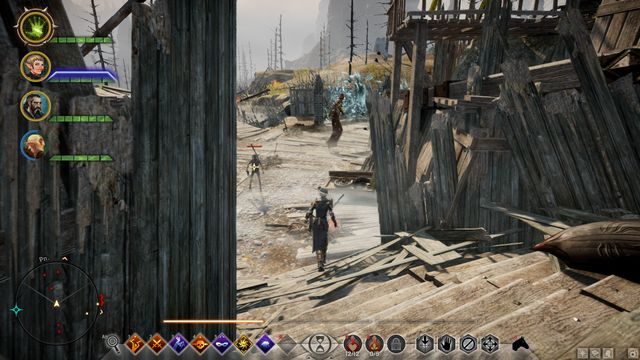 A barrier separating you from the hole - Lay Rest the Western Ramparts - Side quests - Exalted Plains - Dragon Age: Inquisition Game Guide & Walkthrough