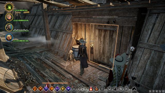 The closed door behind which you will find the Wounded Chevalier - A Familiar Ring - Side quests - Exalted Plains - Dragon Age: Inquisition Game Guide & Walkthrough