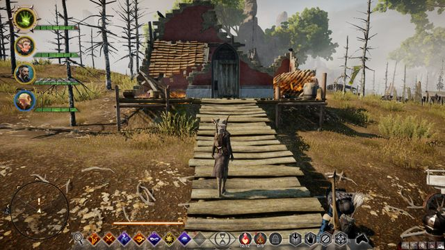 The farmers destroyed house - A Fathers Guidance - Side quests - Exalted Plains - Dragon Age: Inquisition Game Guide & Walkthrough
