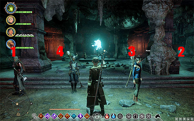 You have to do the exact same things in this tomb as in the previous ones - The Tomb of Fairel - Side quests - The Hissing Wastes - Dragon Age: Inquisition Game Guide & Walkthrough