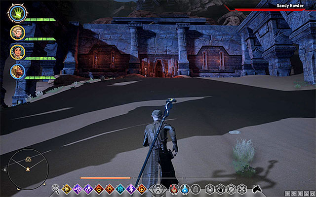The entrance to the Tomb of Fairel - The Tomb of Fairel - Side quests - The Hissing Wastes - Dragon Age: Inquisition Game Guide & Walkthrough