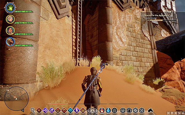 The eighth shard (M19,3h) lies on one of the balconies in the Griffon Wing Keep - Shards in the Approach - Side quests - The Western Approach - Dragon Age: Inquisition Game Guide & Walkthrough