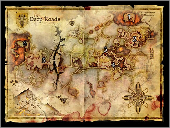 Dragon Age: Origins - World Atlas - Maps - Map 3: Deep roads - game guide,