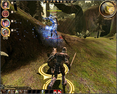 After you've dealt with standard enemy units you'll also have to get rid of a mini-boss carrying a bow - Assassin leader - Followers - Lelianas past - Followers - Dragon Age: Origins - Game Guide and Walkthrough