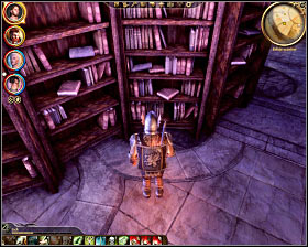 Step 2: Find the first book located in the northern row of the southern section of the library (M33, 18) - The Circle tower - Summoning sciences - The Circle tower - Dragon Age: Origins - Game Guide and Walkthrough