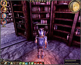 Step 6: Find the third book located in the southern row of the southern section of the library (M33, 24) - The Circle tower - Summoning sciences - The Circle tower - Dragon Age: Origins - Game Guide and Walkthrough