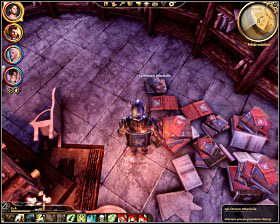 Step 7: Find the second book located in the southern section of the library (M33, 23) - The Circle tower - Summoning sciences - The Circle tower - Dragon Age: Origins - Game Guide and Walkthrough