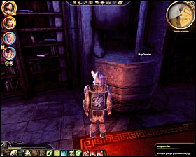 Step 8: Click on huge statue of mage Gorvish (western wall of the northern section of the library) (M33, 19) - The Circle tower - Summoning sciences - The Circle tower - Dragon Age: Origins - Game Guide and Walkthrough