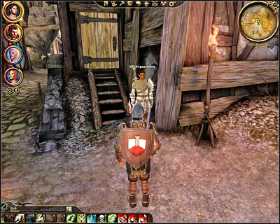 Naturally your first step will be to visit the hospice and there a few ways of gaining access to it - Denerim - Unrest in the alienage - Denerim - Dragon Age: Origins - Game Guide and Walkthrough