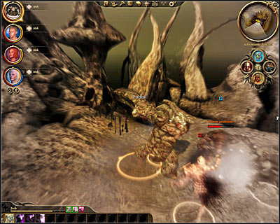 Ignore the initial health bar seen near the main boss, because each time he's lost enough health he'll regenerate and reappear in a different form - Lost in dreams - Main quests - Dragon Age: Origins - Game Guide and Walkthrough