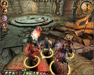 The game starts in the eastern section of the ruins (M44, 1) and you'll be moving west - Nature of the beast - Main quests - Dragon Age: Origins - Game Guide and Walkthrough