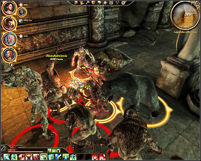 You'll start exploring the last level of the ruins in a bad spot (M46, 1), because there are a lot of monsters nearby - Nature of the beast - Main quests - Dragon Age: Origins - Game Guide and Walkthrough
