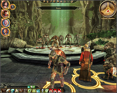 Thankfully even if you do manage to kill the Gatekeeper you won't turn all the other werewolves hostile towards you and you'll still be allowed to choose between several endings during your conversation with the Lady of the Forest (M46, 5) - Nature of the beast - Main quests - Dragon Age: Origins - Game Guide and Walkthrough