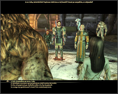 During the conversation with Zathrian you can agree to killing the werewolves right away or you can wait with your decision until you've returned to the Lady of the Forest - Nature of the beast - Main quests - Dragon Age: Origins - Game Guide and Walkthrough