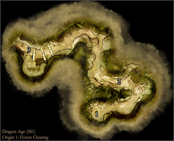 1 - Map M1: Forest clearing - Maps - Dragon Age: Origins - Game Guide and Walkthrough