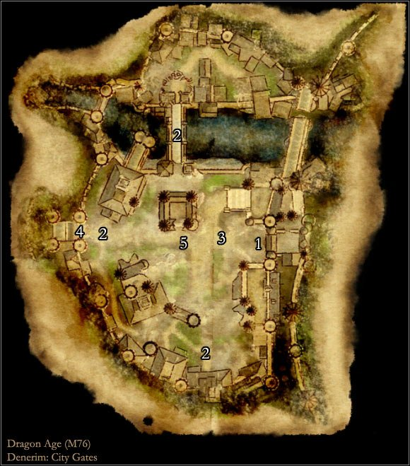 Map M76: City Gates | Maps of locations - Dragon Age: Origins Game ...