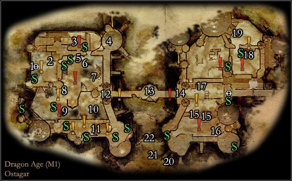 Maps - Map M1 - Ostagar | Maps - Dragon Age: Origins - Return to ...