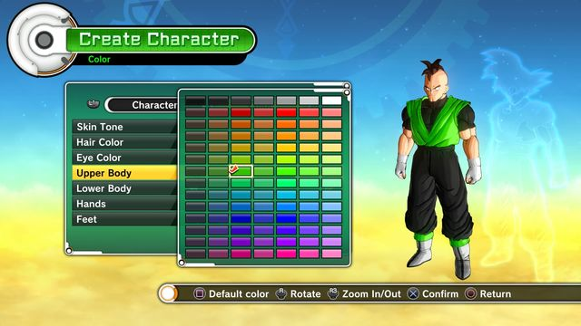 character creation introduction dragon ball xenoverse game