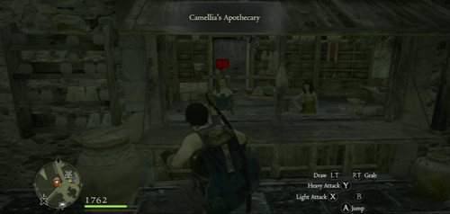 After accepting the quest, go to Camellia's Apothecary at the market - A Troublesome Tome - Act I - Dragons Dogma - Game Guide and Walkthrough