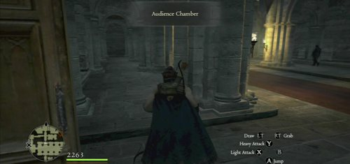 Be cautious in the throne room as well (it's patrolled by one person) - Arousing Suspicion - Act II - Dragons Dogma - Game Guide and Walkthrough