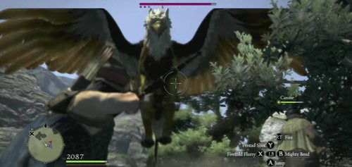 Description: A flying creature which is a mixture of an eagle and a lion - Griffin - Bestiary - Dragons Dogma - Game Guide and Walkthrough
