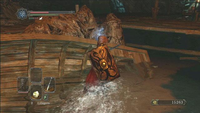 Colete todos os itens a partir do barco.  - No Mans Wharf - Detonado - Dark Souls II - Guia do Jogo e Passo a passo