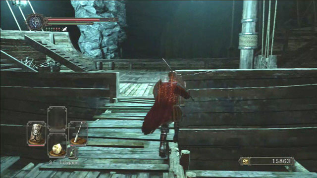 Receba no navio.  - No Mans Wharf - Detonado - Dark Souls II - Guia do Jogo e Passo a passo