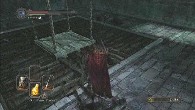 Utilizar o elevador.  - Pecadores Rise - Detonado - Dark Souls II - Guia do Jogo e Passo a passo