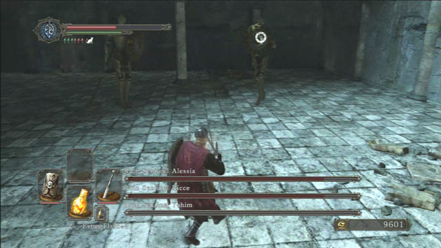 Concentre-se em um único inimigo.  - Ruína Sentinelas - Como derrotar um chefe - Dark Souls II - Guia do Jogo e Passo a passo