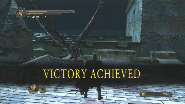 Vitória!  - Campanário Gárgula - Como derrotar um chefe - Dark Souls II - Guia do Jogo e Passo a passo