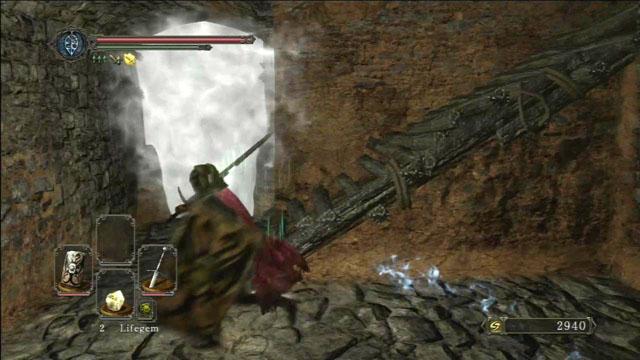 Vá através da névoa.  - Pico de terra - Passo a passo - Dark Souls II - Guia do Jogo e Passo a passo