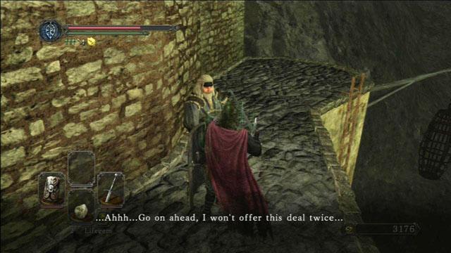 Fale com Gilligan.  - Pico de terra - Passo a passo - Dark Souls II - Guia do Jogo e Passo a passo
