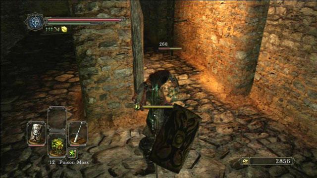 Derrote o inimigo e suba a escada.  - Pico de terra - Passo a passo - Dark Souls II - Guia do Jogo e Passo a passo