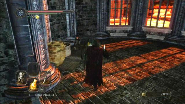 Fale com o comerciante.  - Manter Ferro - viagem pela fortaleza - Detonado - Dark Souls II - Guia do Jogo e Passo a passo