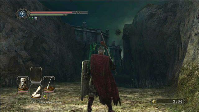 Cuidado com os inimigos nas colunas - Huntsmans Bosque - o caminho para o Purgatório Mortos-Vivos - Detonado - Dark Souls II - Guia do Jogo e Passo a passo
