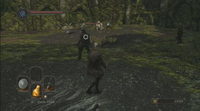 Atente para o arqueiro - Forest of the Giants Derrotados (I) - Passo a passo - Dark Souls II - Guia de jogo e passo a passo