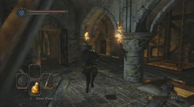 Pegue o elevador para o nível mais baixo - Forest of the Giants caídos (II) - Passo a passo - Dark Souls II - Guia de jogo e passo a passo