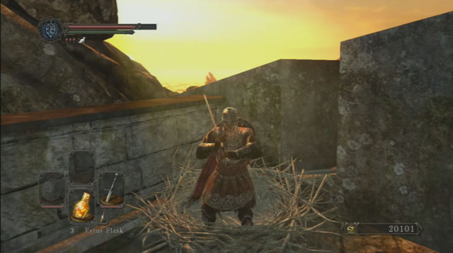 Use o ninho.  - Forest of the Giants caídos - Vamos seguir em frente - Detonado - Dark Souls II - Guia do Jogo e Passo a passo