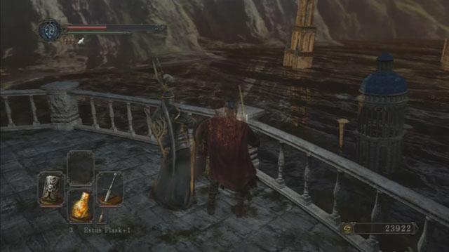 Você pode conversar com o cavaleiro.  - Heides Tower Of Flame - Detonado - Dark Souls II - Guia do Jogo e Passo a passo