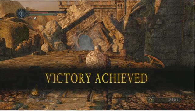 Vitória!  - O perseguidor - Como derrotar um chefe - Dark Souls II - Guia do Jogo e Passo a passo