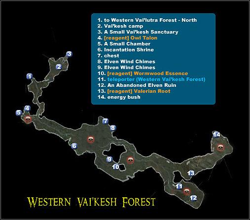 Western Vai'Kesh Forest | Maps - Dungeon Siege II: Broken