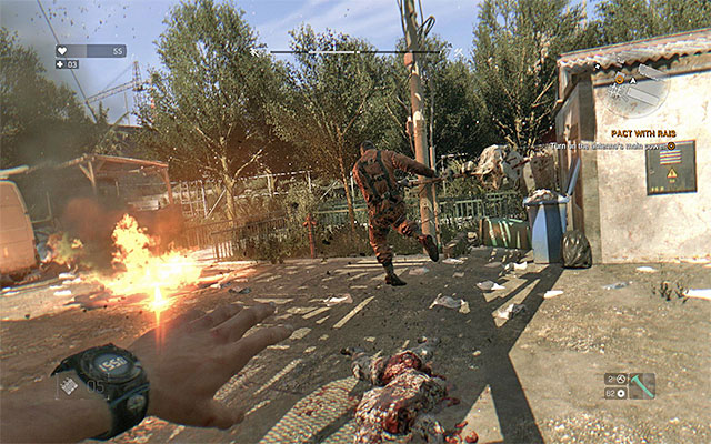 how to kill the boss on first mision dying light