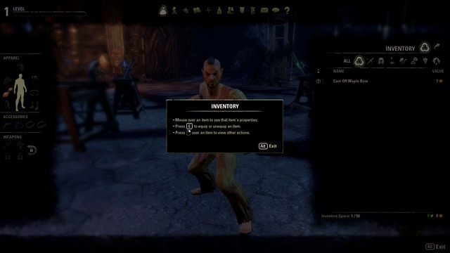 Inventory - 1. The Hero - The Elder Scrolls Online in 10 Easy Steps - The Elder Scrolls Online Game Guide