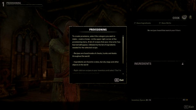 Provisioning - 7. Crafting - The Elder Scrolls Online in 10 Easy Steps - The Elder Scrolls Online Game Guide