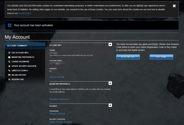 Теперь вы можете войти в свою новую учетную запись - ESO: Elder Scrolls Online account - как создать? - Начало игры - Онлайн руководство The Elder Scrolls