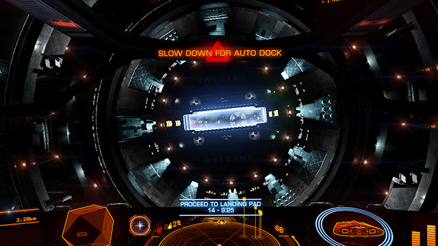 Automatic landing is a piece of cake - Automatic docking - Docking and takeoff - Elite: Dangerous - Game Guide and Walkthrough