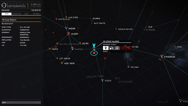 galaxy map travelling elite dangerous game guide