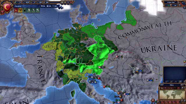 The boundaries of the HRE can be looked up in the appropriate map mode. The lightest green is the Emperor's country. - Holy Roman Empire - Religion and culture - Europa Universalis IV - Game Guide and Walkthrough